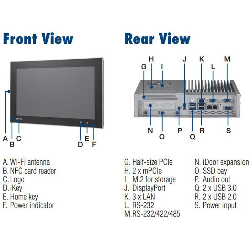 全新研华TPC-5212W 21.5寸全高清液晶显示器多点触控工业平板电脑