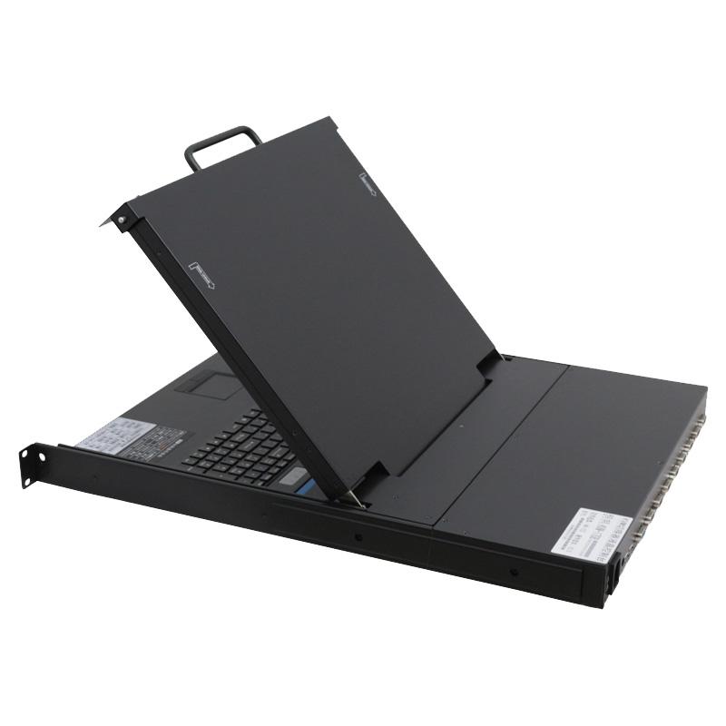 KVM切换器热键8口17寸LCD USB/PS2机架折叠抽拉式19寸机柜安装