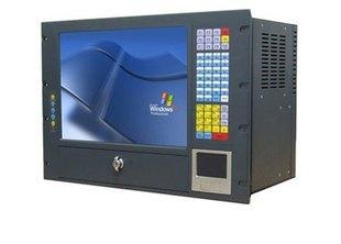 """19""""标准上架式8U工作站带滑动触摸鼠标触摸显示屏"""