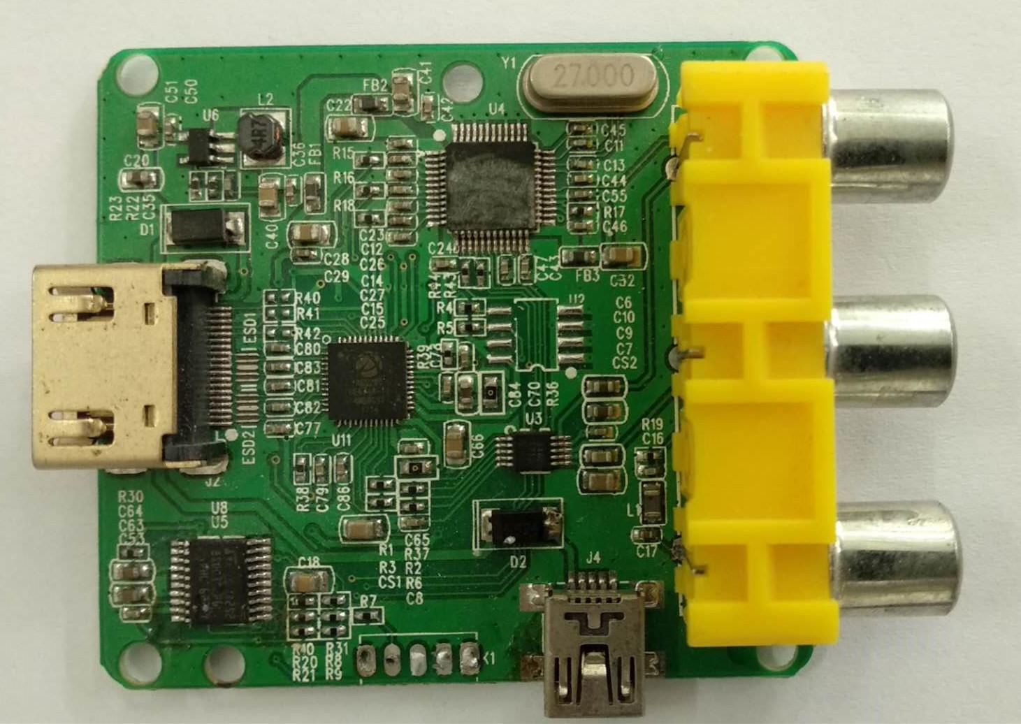 HDMI 轉 AV  方案 MS1830方案