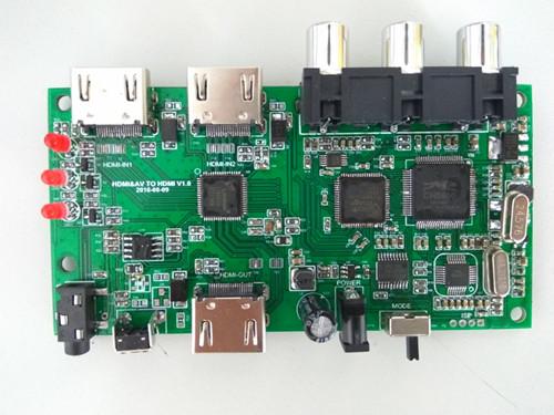 AV+HDMI TO HDMI 帶遙控與按鍵切換