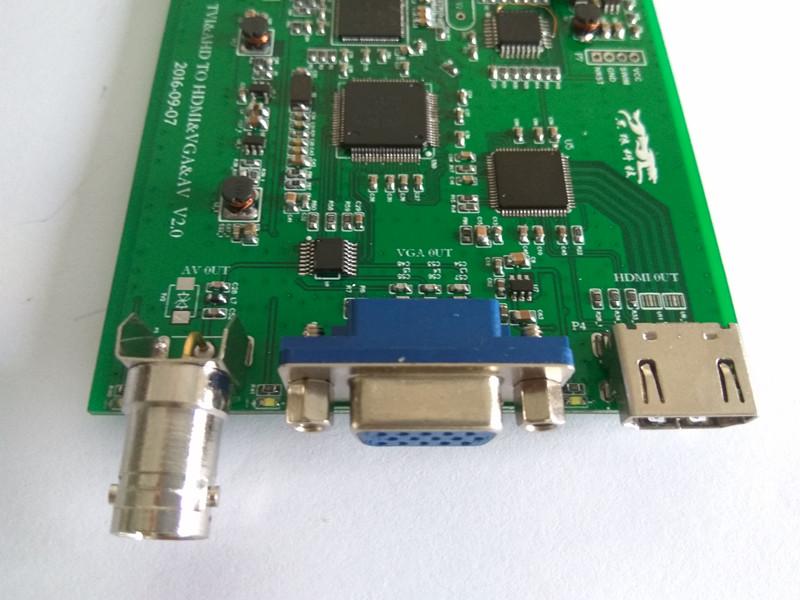 AHD/TVI 轉 HDMI VGA AV 轉換器方案震撼上市支持環出
