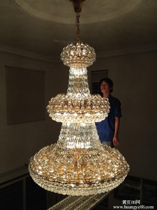 深圳酒店灯具清洁,专业深圳水晶灯清洗公司,水晶吊灯清洗公司