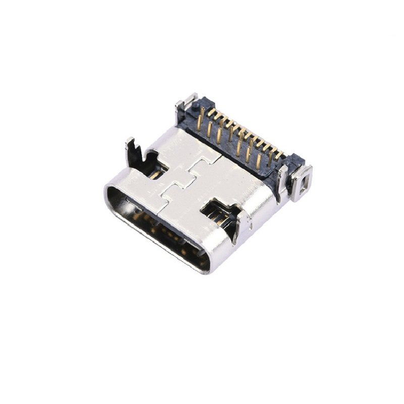 USB 3.1 TYPE-C母座 24Pin 后插后贴