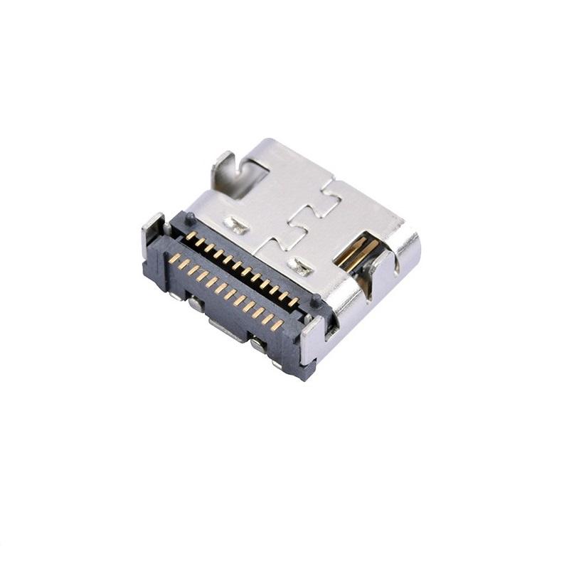 USB 3.1 TYPE-C母座 24Pin四脚插引脚贴片SMT