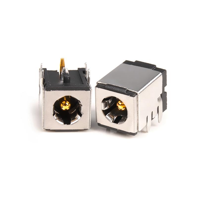 DC007BФ2.0/2.5 5.5(13*10*10)大电流DC电源插座10A 金属壳直脚