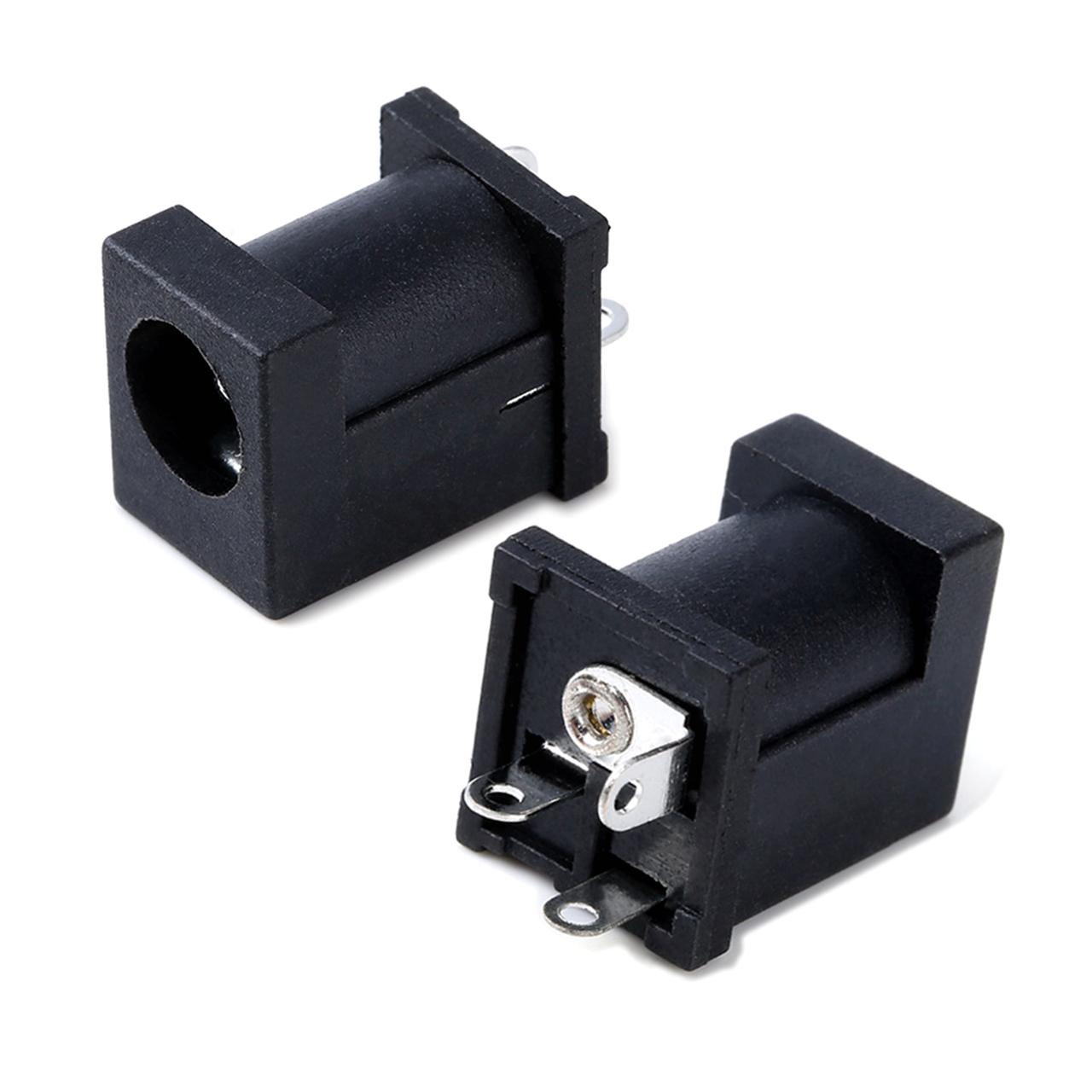 DC012AФ2.0/2.5 6.3(14*10*11) 180°短脚 DC电源插座