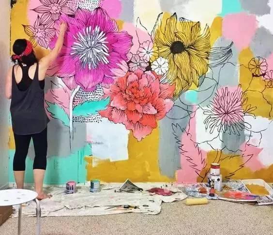 家里没有手绘墙?你家装修就不算完美!墙绘不等于涂鸦