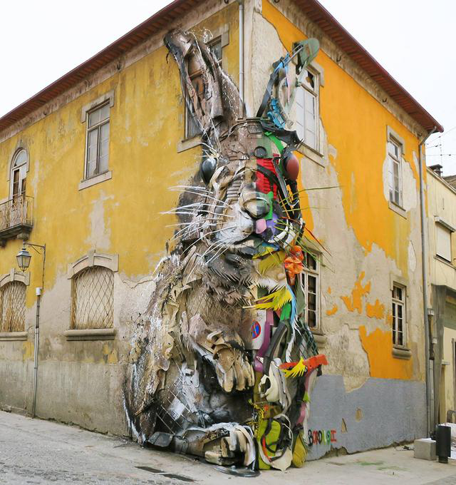新视觉新观念——Bordalo垃圾街头涂鸦雕塑