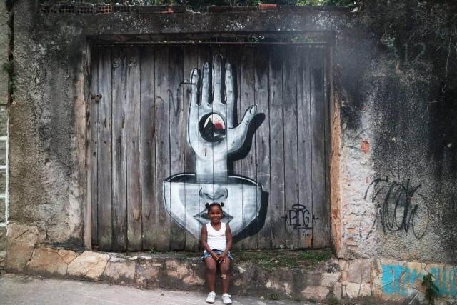 惊呆:巴西色彩斑斓的街头涂鸦美爆全世界!