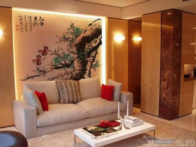在家里画一幅国画墙绘,也是不一样的艺术作品,百看不腻
