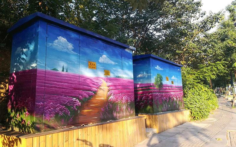 【网红】配电箱涂鸦_用墙绘涂鸦装点城市每个角落_北京dna街头涂鸦团队