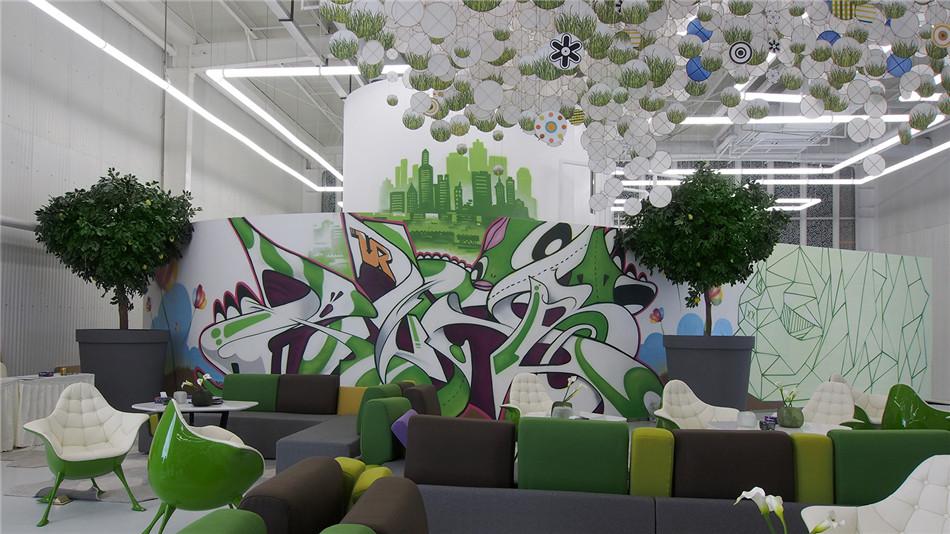 北京DNA涂鸦--房产销售中心涂鸦墙创作