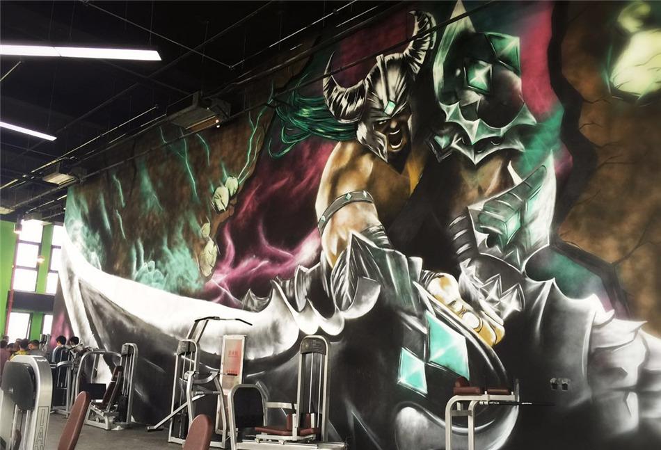 北京DNA涂鸦--健身房涂鸦墙