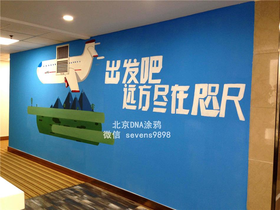 北京DNA涂鸦--北旅总部手绘墙制作