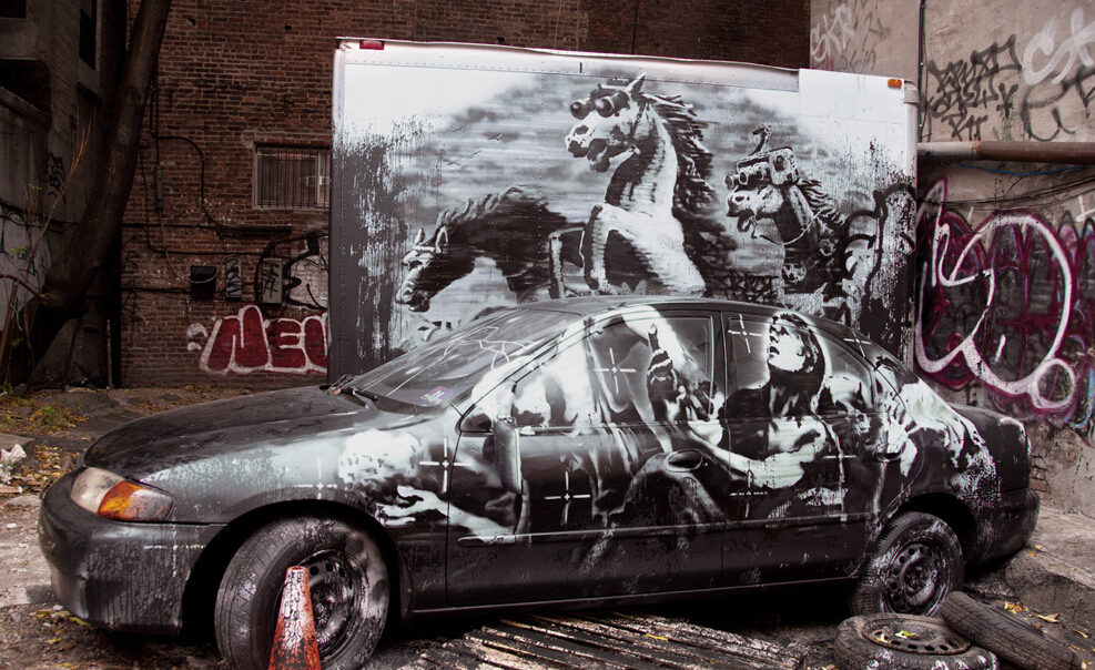 北京DNA涂鸦--街头涂鸦Banksy