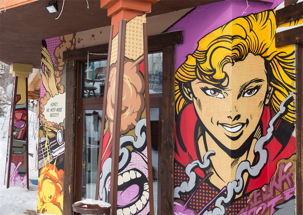 北京DNA涂鸦--滑雪场欧美复古风涂鸦创作