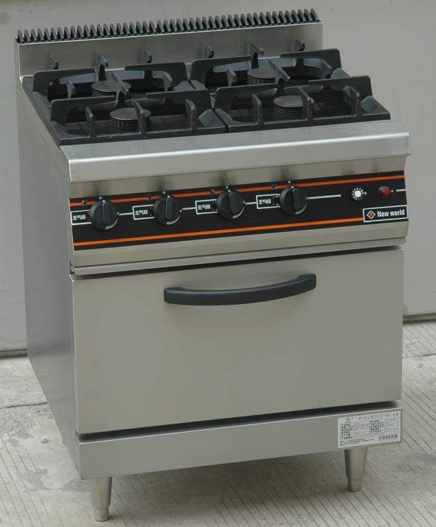 4-burner gas range with oven under