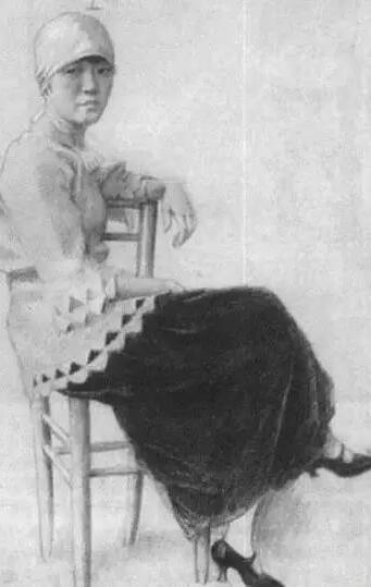 徐悲鸿笔下的裸女素描