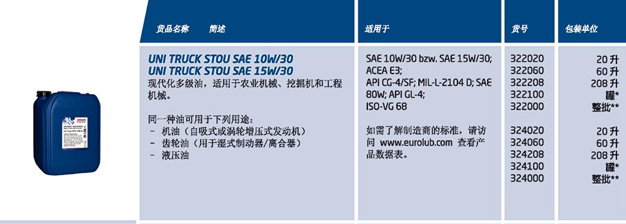 UNI TRUCK STOU SAE 10W/30 15W/30