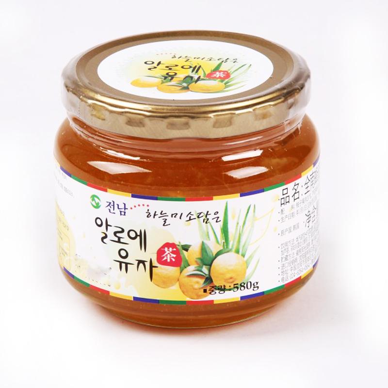 韩国全南蜂蜜芦荟柚子茶580g