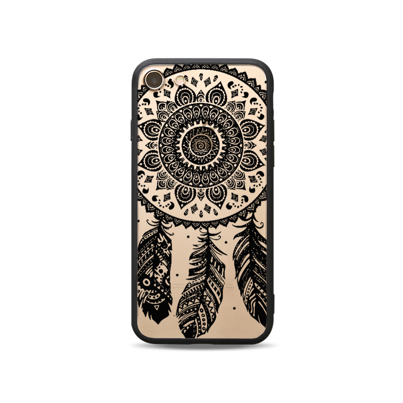 Black edge two in one painted mobile phone protective shell-C1