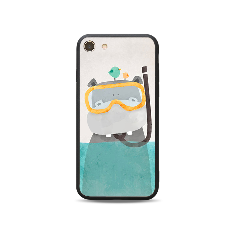 Black edge two in one painted mobile phone protective shell-B1
