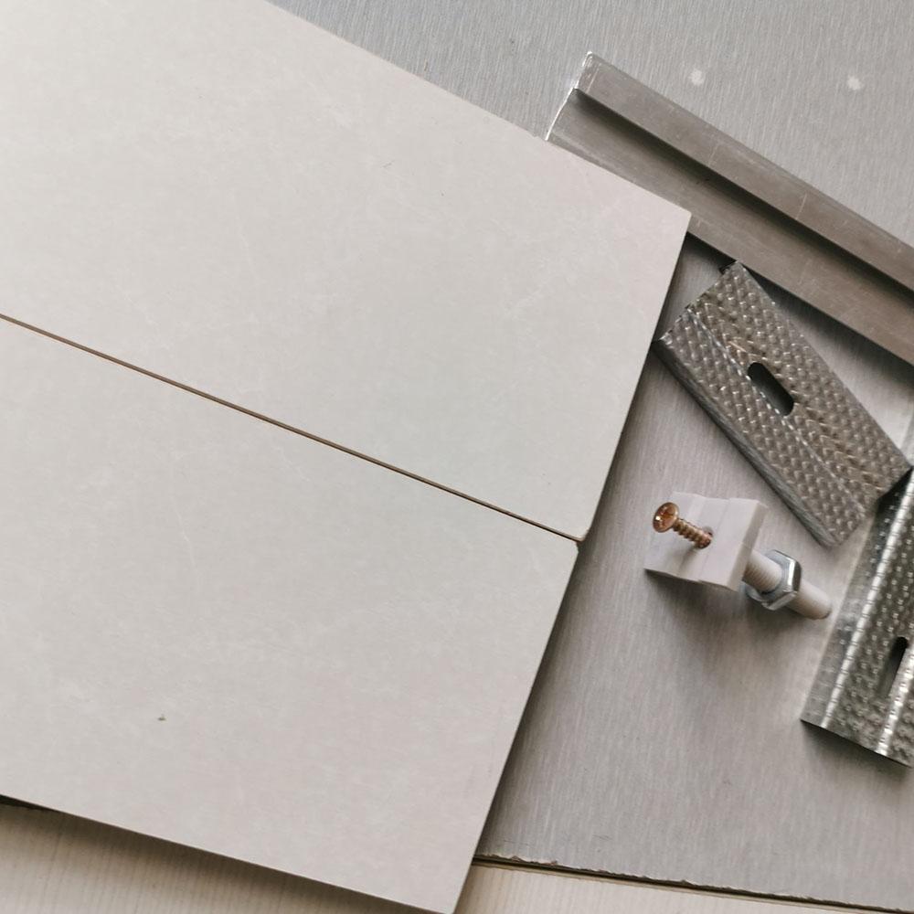 装配式快装墙板 硅酸钙壁纸包覆板(附装配式墙板施工现场安装视频链接)