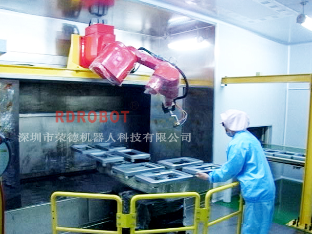 洗衣机外观件机器人喷涂全自动生产线