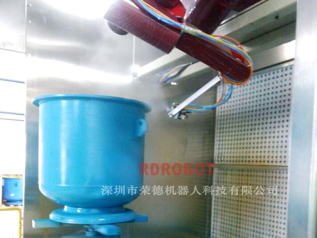 容器桶机器人自动喷漆设备
