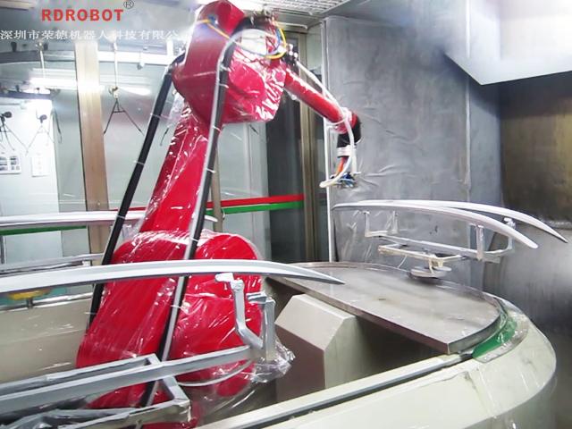汽车行李架机器人喷漆