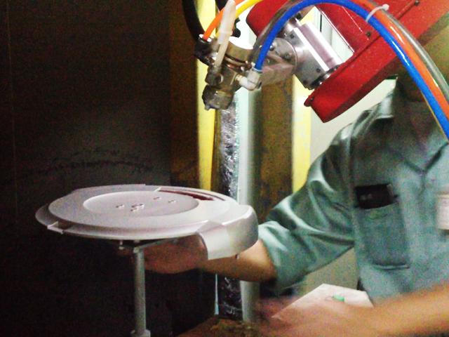 机器人自动喷涂扫地机器人外壳