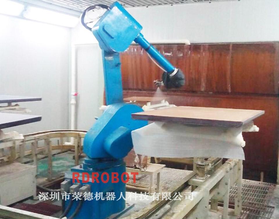 木板机器人自动喷漆设备