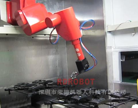 汽车导航仪面板涂装机器人