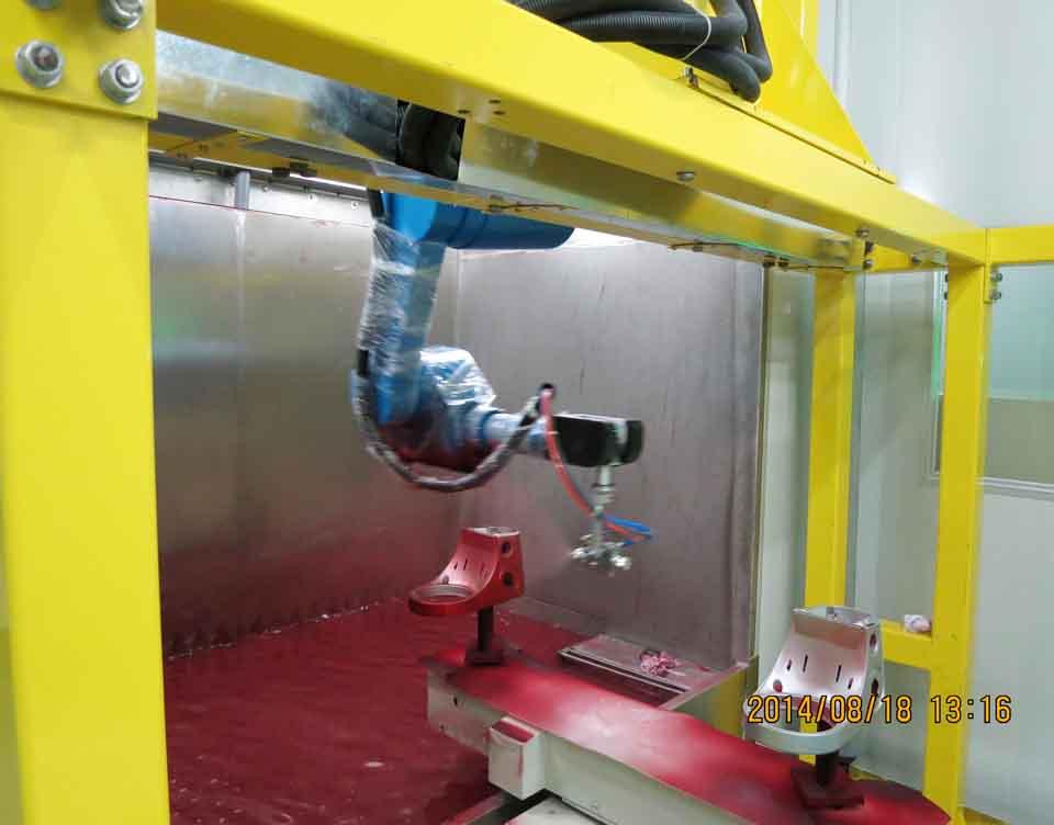 小家电咖啡壶机器人喷漆台