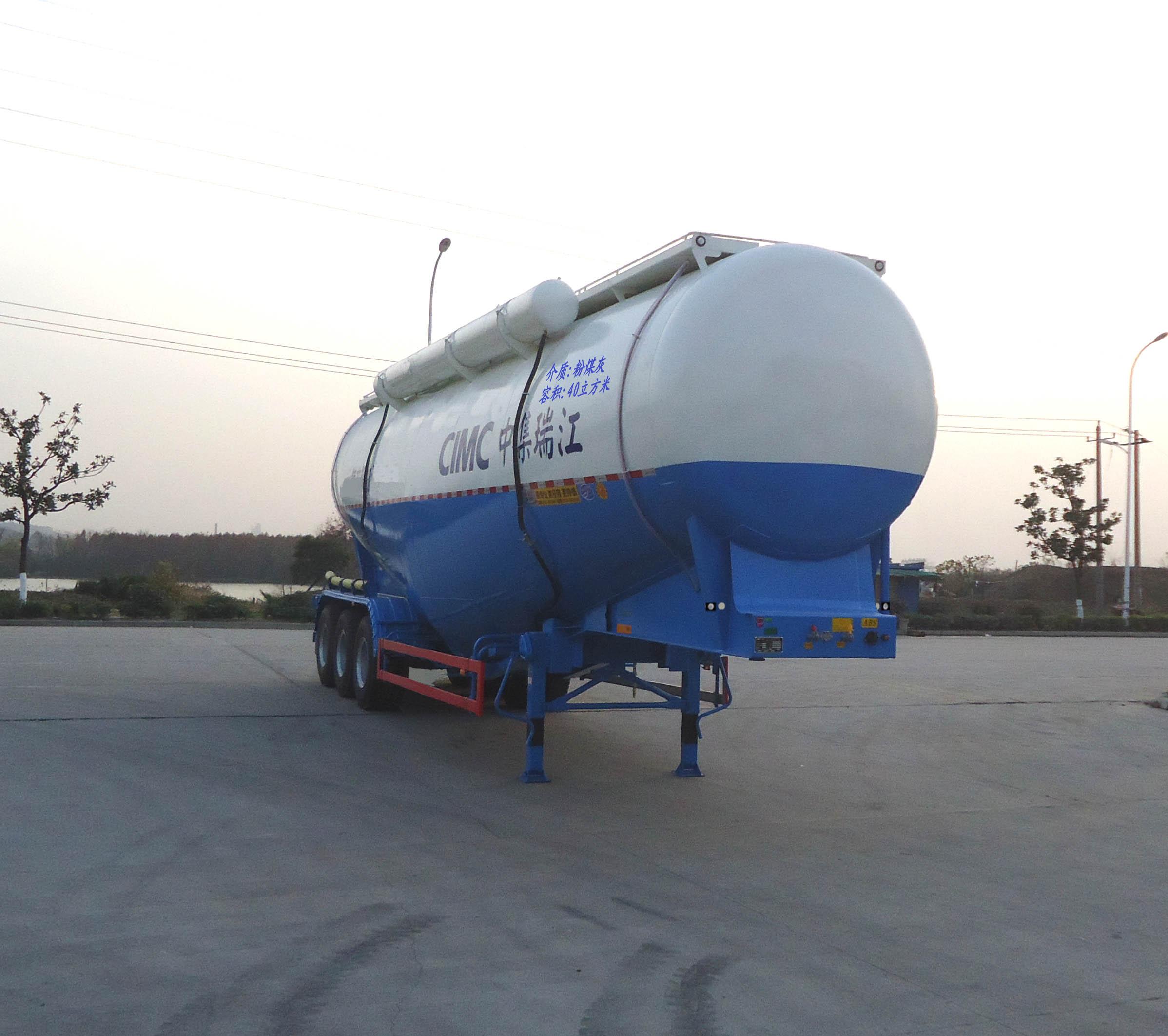 40M3 Semi Tráiler Tanque Para Polvo Con Ex Generador De Diesel