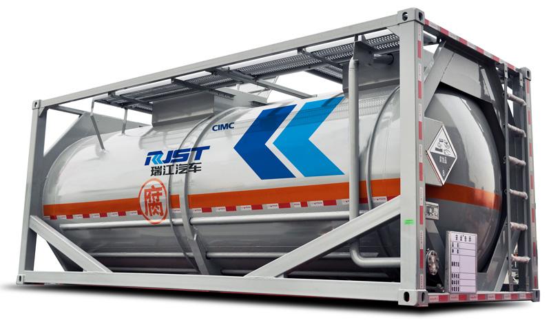 Нержавеющая легковесная цистерна-контейнеровоз 20 футов