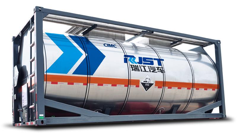 Нержавеющая цистерна-контейнеровоз 20 футов