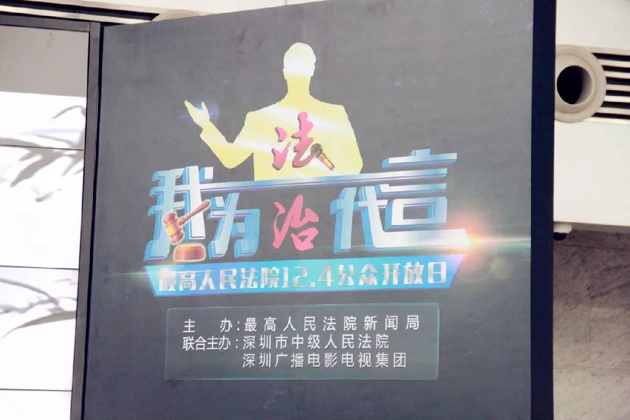 广东深田律师事务所的杨叶律师作为深圳法律义工代表出席'我为法治代言'最高人民法院12.4公众开放日活动