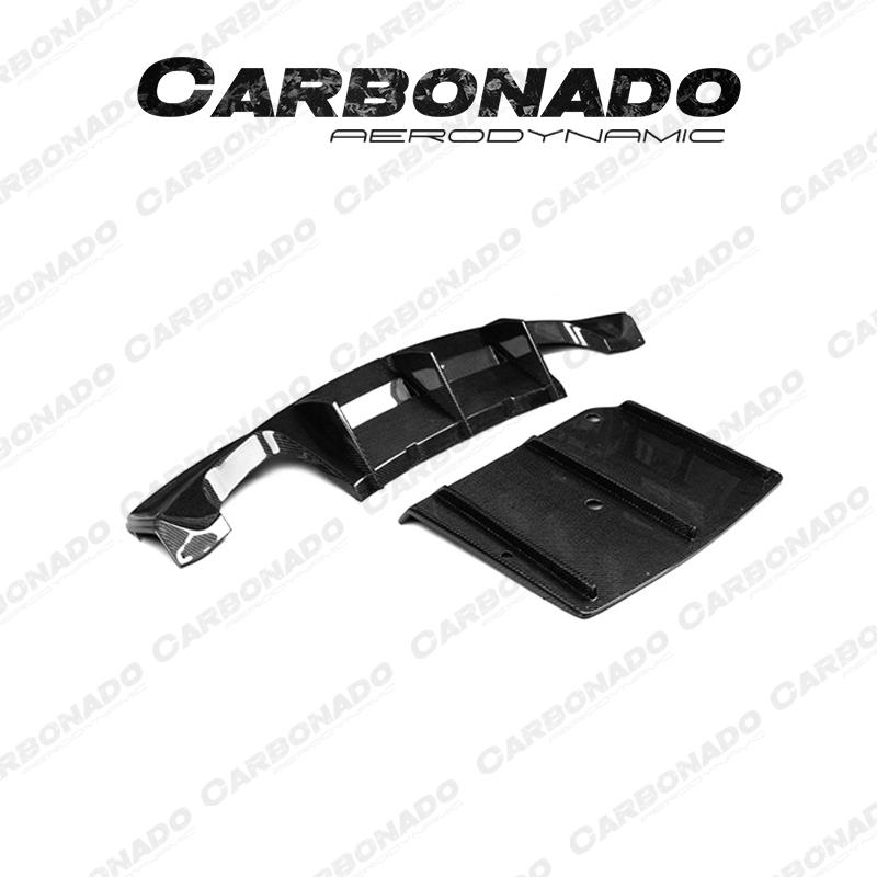 Carbonado RZR Carbon Fiber Rear Diffuser For BMW 1 Series 1M E82