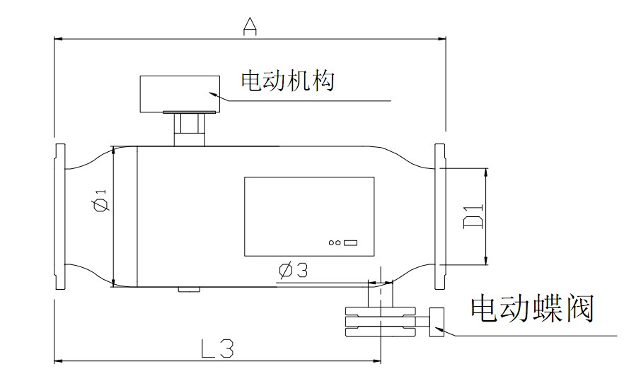 全自動反沖洗過濾器規格型號及外形尺寸圖