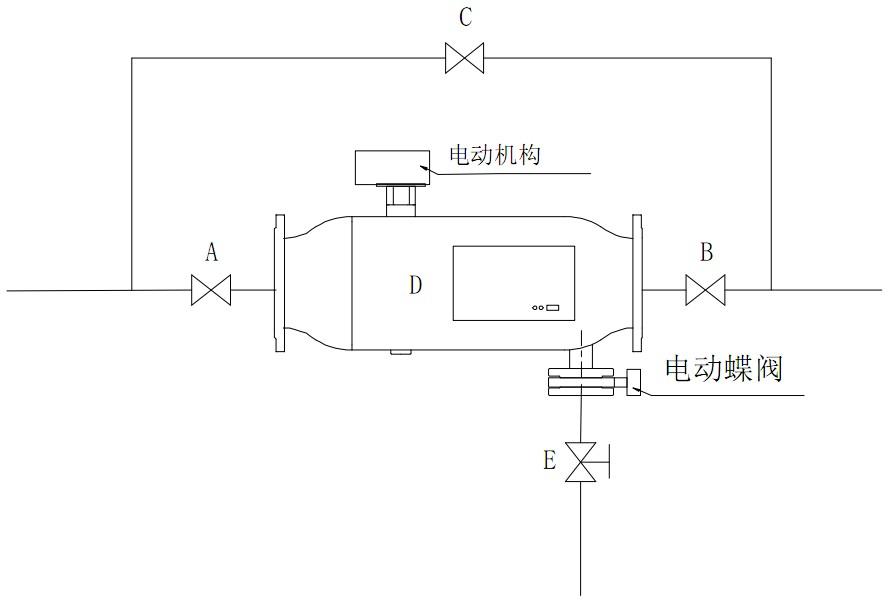 全自動反沖洗過濾器設備安裝示意圖