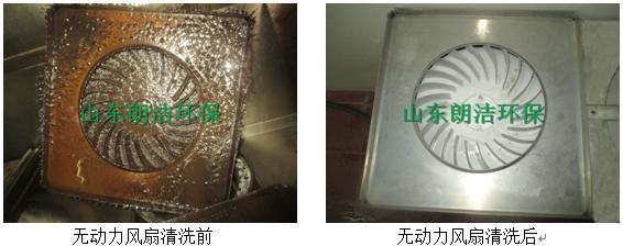 无动力风扇清洗前后对比图片