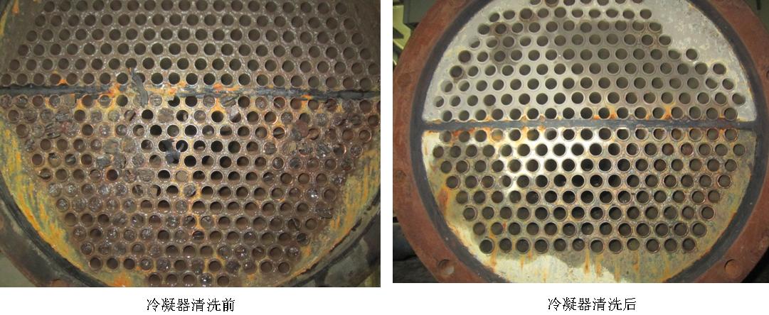 中央空调冷凝器清洗前后对比图