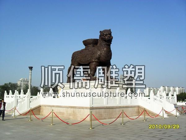 顺儒雕塑-栏杆-铜雕工程-001