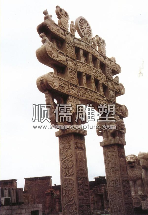 顺儒雕塑-牌楼工程-005-江苏无锡影视城