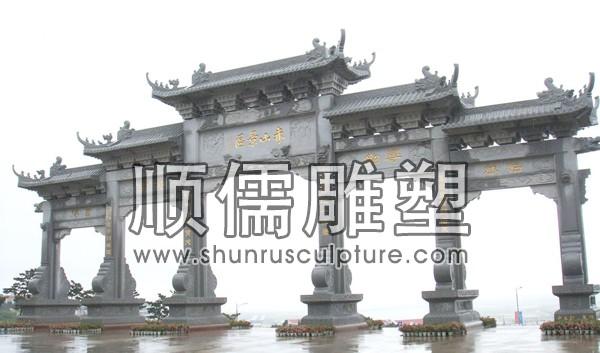 顺儒雕塑-牌楼工程-006-山东石牌坊