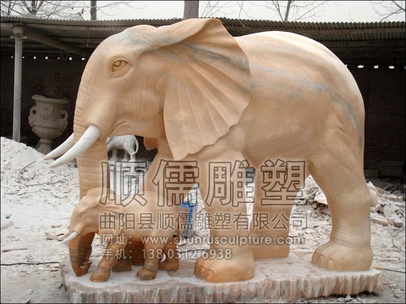 大象-001-石雕-顺儒雕塑
