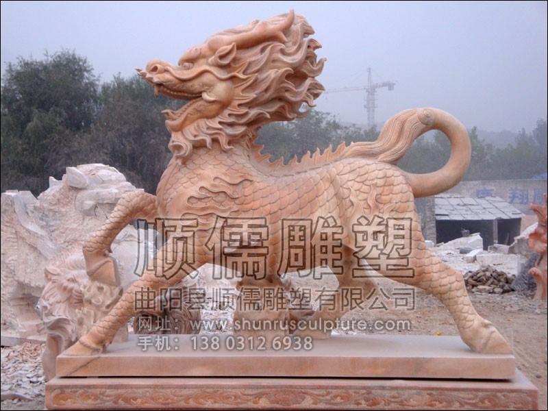 麒麟-001-石雕-顺儒雕塑
