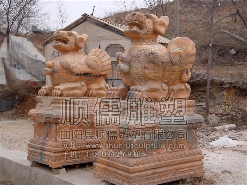 瑞兽-001-石雕-顺儒雕塑